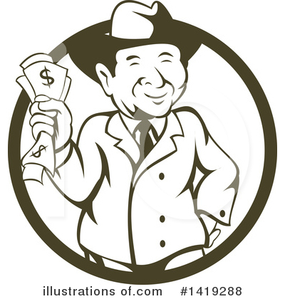 Businessman Clipart #1419288 by patrimonio