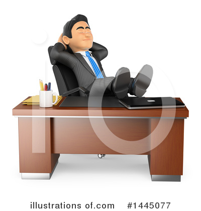 Royalty-Free (RF) Business Man Clipart Illustration by Texelart - Stock Sample #1445077