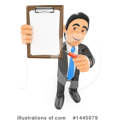 Royalty-Free (RF) Business Man Clipart Illustration by Texelart - Stock Sample #1445079