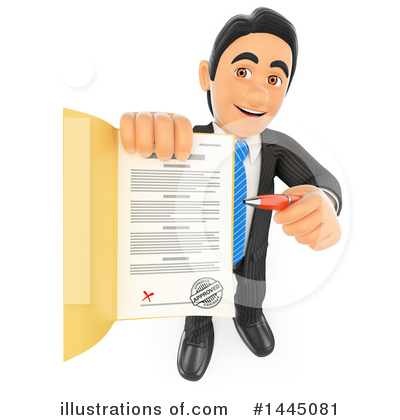 Royalty-Free (RF) Business Man Clipart Illustration by Texelart - Stock Sample #1445081