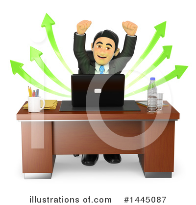 Royalty-Free (RF) Business Man Clipart Illustration by Texelart - Stock Sample #1445087