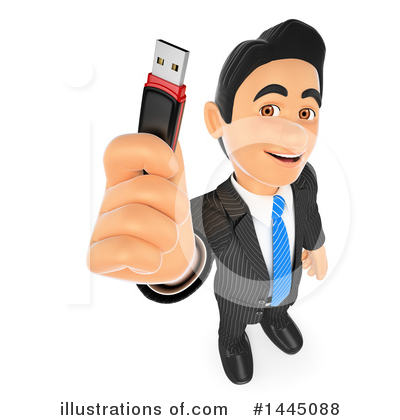 Royalty-Free (RF) Business Man Clipart Illustration by Texelart - Stock Sample #1445088