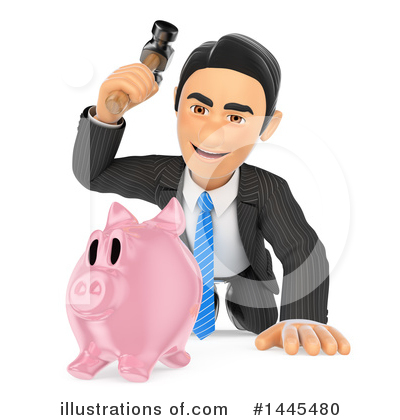 Royalty-Free (RF) Business Man Clipart Illustration by Texelart - Stock Sample #1445480