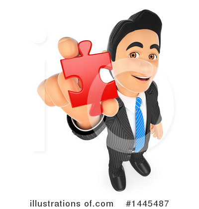 Royalty-Free (RF) Business Man Clipart Illustration by Texelart - Stock Sample #1445487