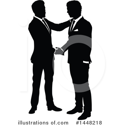 Handshake Clipart #1448218 by AtStockIllustration
