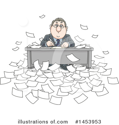 Business Man Clipart #1453953 by Alex Bannykh