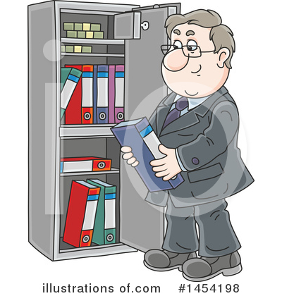 Royalty-Free (RF) Business Man Clipart Illustration by Alex Bannykh - Stock Sample #1454198