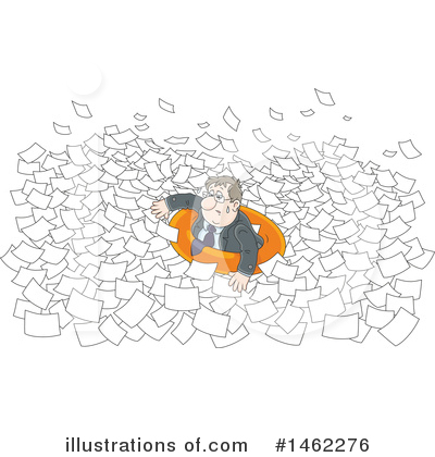 Business Man Clipart #1462276 by Alex Bannykh
