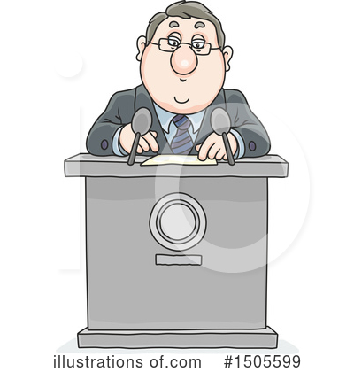 Business Man Clipart #1505599 by Alex Bannykh