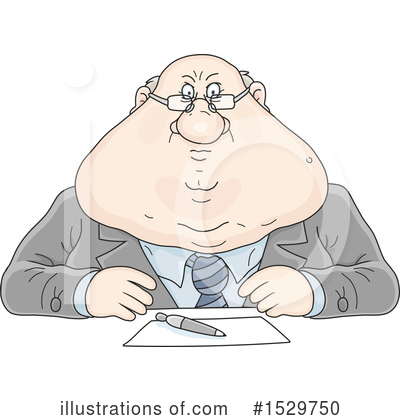 Business Man Clipart #1529750 by Alex Bannykh