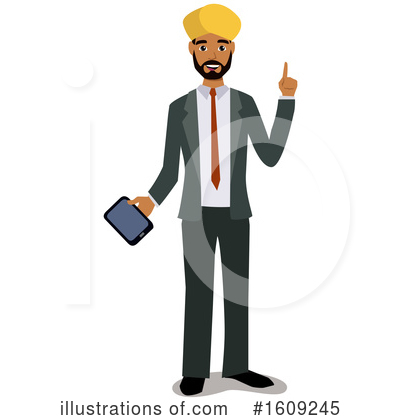 Royalty-Free (RF) Business Man Clipart Illustration by peachidesigns - Stock Sample #1609245