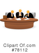 Royalty-Free (RF) Business Meeting Clipart Illustration #78112