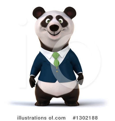 Royalty-Free (RF) Business Panda Clipart Illustration by Julos - Stock Sample #1302188