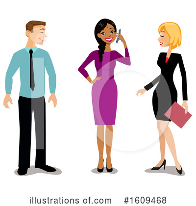 Business Woman Clipart #1609468 by peachidesigns