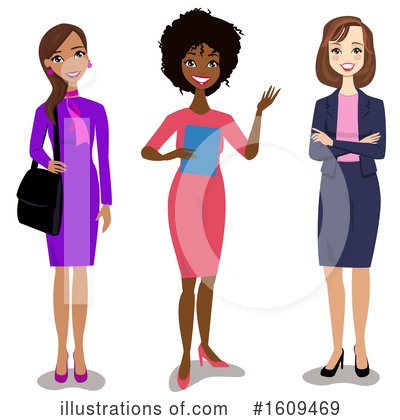 Business Woman Clipart #1609469 by peachidesigns
