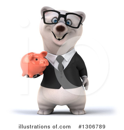 Business Polar Bear Clipart #1306789 by Julos