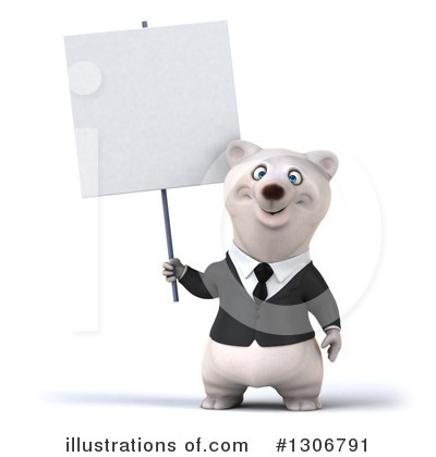 Business Polar Bear Clipart #1306791 by Julos
