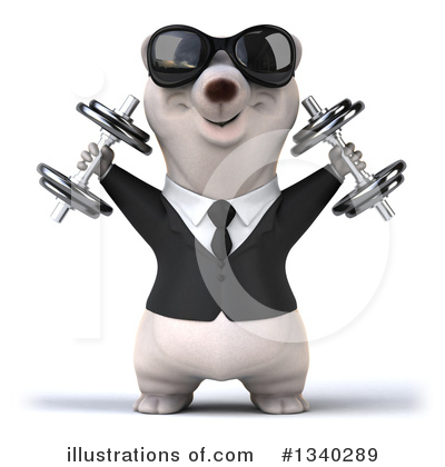 Business Polar Bear Clipart #1340289 by Julos