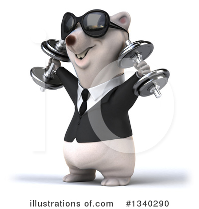 Business Polar Bear Clipart #1340290 by Julos