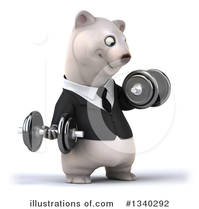Business Polar Bear Clipart #1340292 by Julos