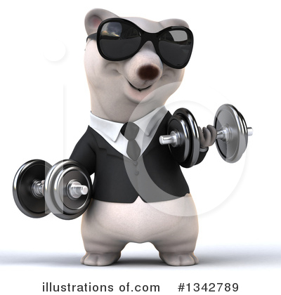 Business Polar Bear Clipart #1342789 by Julos