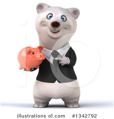 Business Polar Bear Clipart #1342792 by Julos