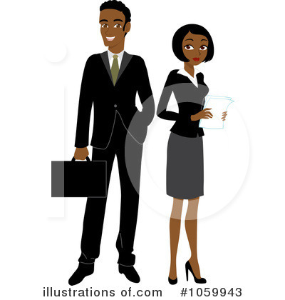 Couple Clipart #1059943 by Rosie Piter