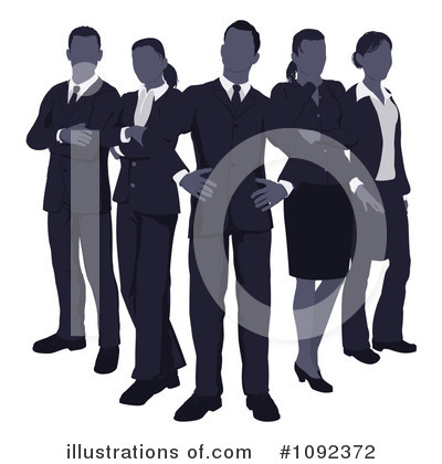 Business Woman Clipart #1092372 by AtStockIllustration