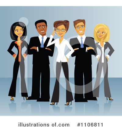 Business Woman Clipart #1106811 by Amanda Kate