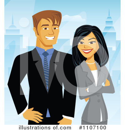 Businesswoman Clipart #1107100 by Amanda Kate