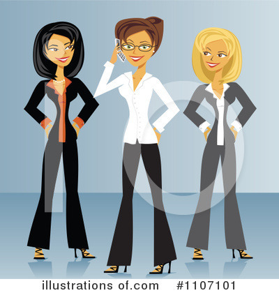 Business Team Clipart #1107101 by Amanda Kate