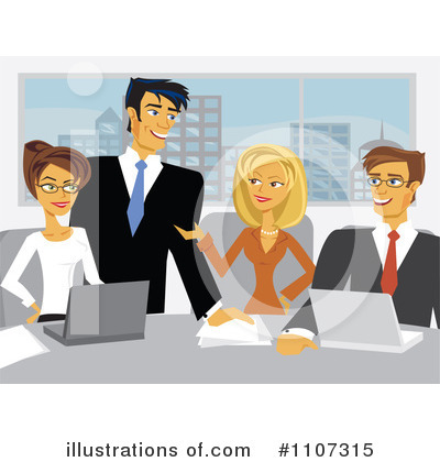 Business Team Clipart #1107315 by Amanda Kate