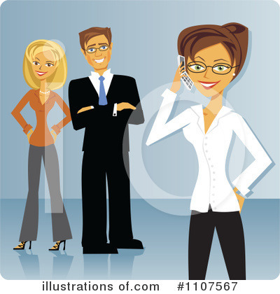 Business Team Clipart #1107567 by Amanda Kate