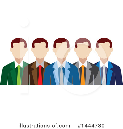 Business Team Clipart #1444730 by ColorMagic