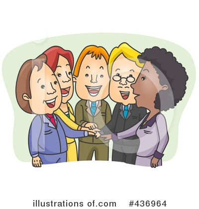 Royalty-Free (RF) Business Team Clipart Illustration by BNP Design Studio - Stock Sample #436964