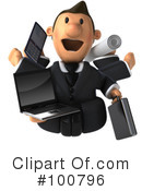 Royalty-Free (RF) Business Toon Guy Clipart Illustration #100796