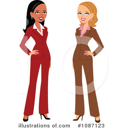 Businesswomen Clipart #1087123 by Monica