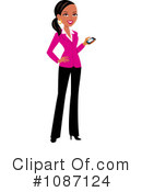 Royalty-Free (RF) business woman Clipart Illustration #1087124