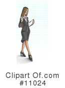 Royalty-Free (RF) Business Woman Clipart Illustration #11024