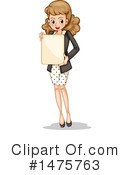 Royalty-Free (RF) Business Woman Clipart Illustration #1475763