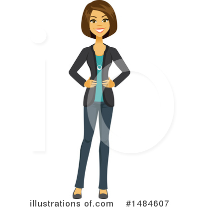 Business Woman Clipart #1484607 by Amanda Kate