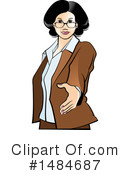 Business Woman Clipart #1484687 by Lal Perera