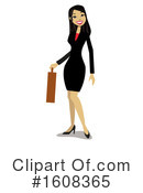 Business Woman Clipart #1608365 by peachidesigns