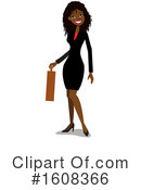 Business Woman Clipart #1608366 by peachidesigns