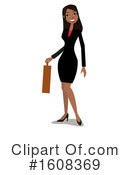 Business Woman Clipart #1608369 by peachidesigns