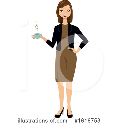 Business Woman Clipart #1616753 by peachidesigns