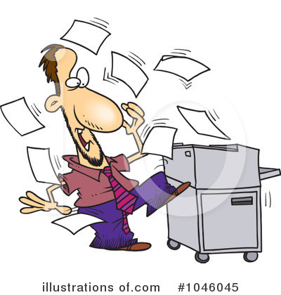 Copier Clipart #1046045 by toonaday