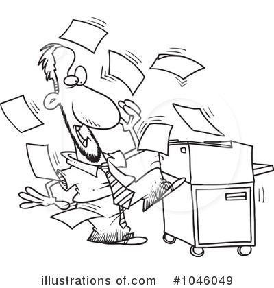 Copier Clipart #1046049 by toonaday