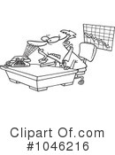 Royalty-Free (RF) businessman Clipart Illustration #1046216
