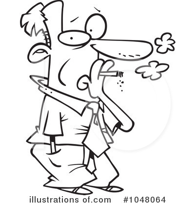 Smoker Clipart #1048064 by toonaday